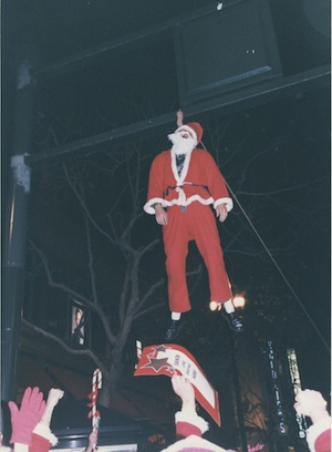"A very bad Santa pays the price for cavorting in an ""un-Christmas like"" manner. 2nd SantaCon, San Francisco, CA. December 1995"