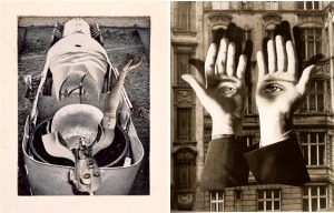 left-max-ernst-anatomie-als-braut-anatomie-jeune-mariee-1921-right-herbert-bayer-lonesome-city-dweller-copy